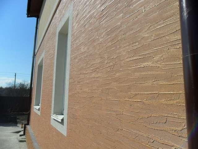 Декоративная штукатурка фасада дома своими руками