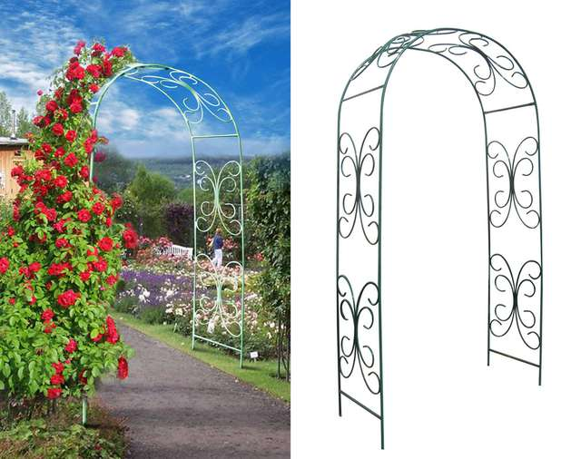 Сварить арку для роз эскиз
