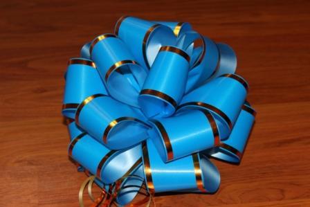 Бант для упаковки из ленты