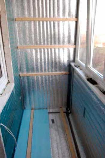 Теплоизоляция лоджии (балкона) с пароизоляцией, Ярославль (i.