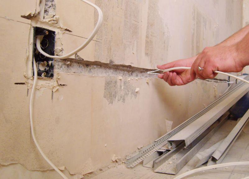 Монтаж электропроводки в ванной видео