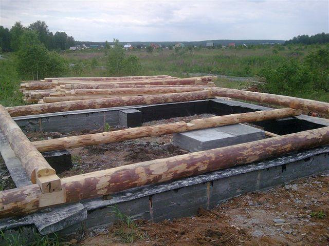 Фундамент под сруб дома