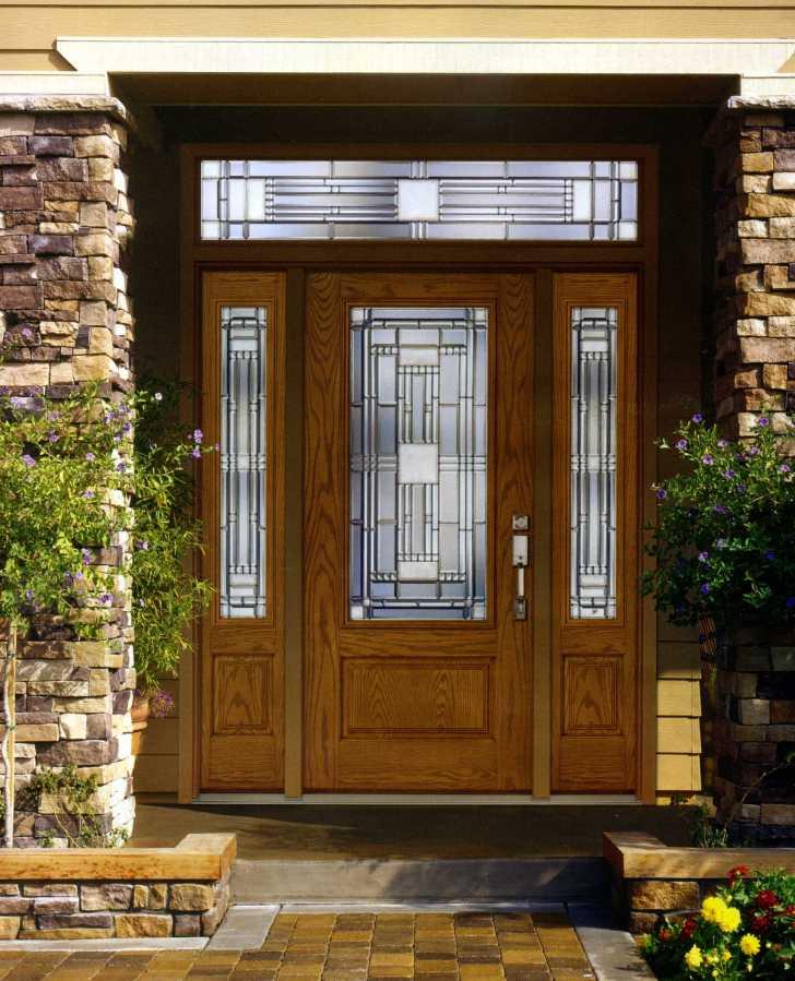 металлические двери для загородных домов с отделкой снаружи